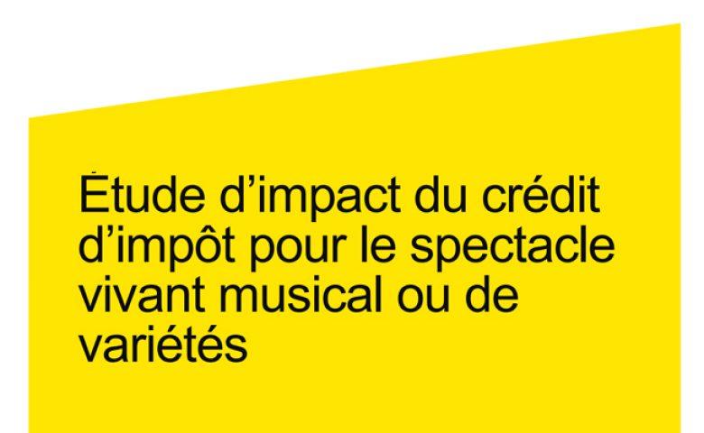 Étude d'impact du crédit d'impôt pour le spectacle vivant musical ou de variétés